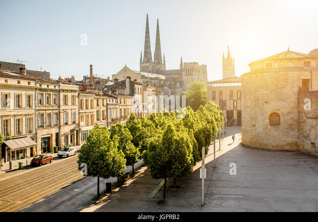Bordeaux city in France - Stock Image