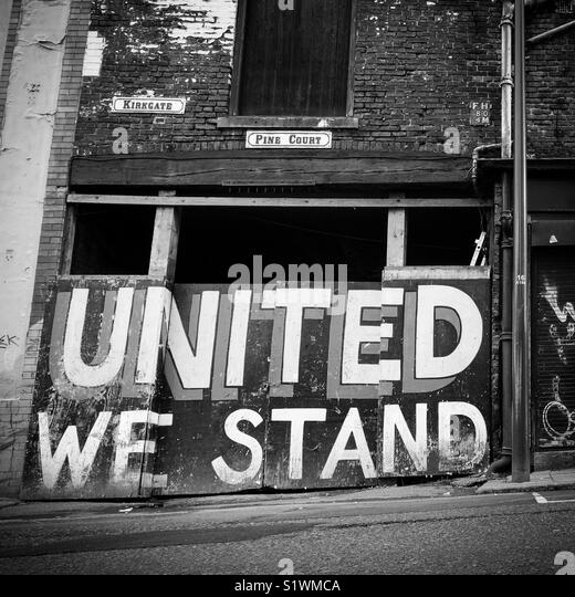 United We Stand. Leeds, West Yorkshire, UK - Stock Image