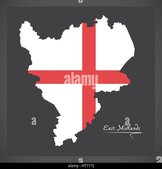 Midlands Map Stock Photos Amp Midlands Map Stock Images Alamy