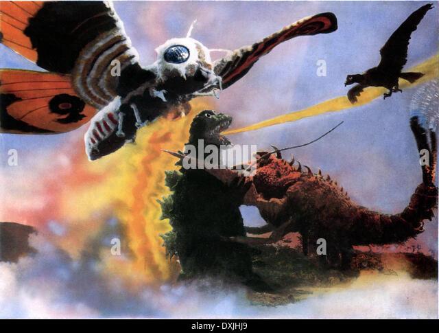 GODZILLA VS THE SEA MONSTER (JAP 1968) TOHO GODZILLA battles - Stock Image