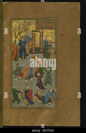 Persian miniature painting stock photos persian for Divan of hafez