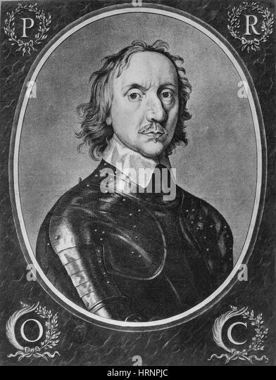 Oliver Cromwell, English Political Leader - Stock Image