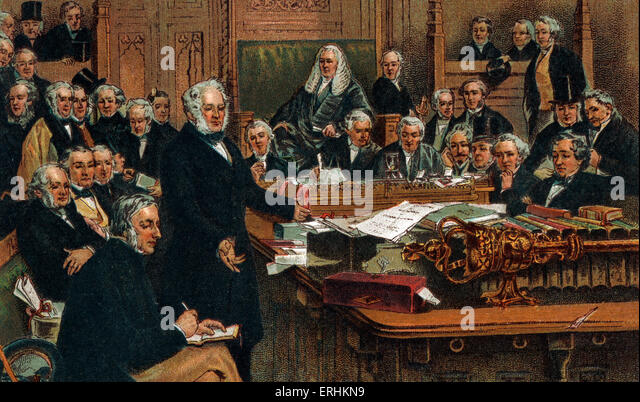 Victorian Era - Lord Palmerston addressing the House of Commons in 1860. - Stock Image