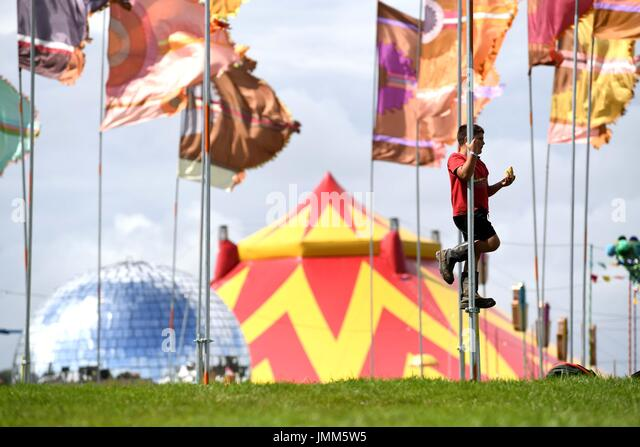 Dorset, UK. 27th July, 2017. Camp Bestival opens, Dorset, UK Credit: Finnbarr Webster/Alamy Live News - Stock Image