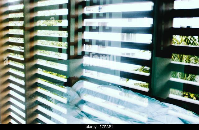 Thailand, Hotel room in Bangkok - Stock Image