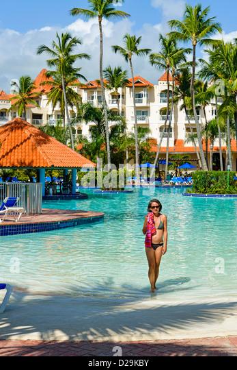 Hotel resort, Punta Cana, Dominican Republic, Caribbean - Stock-Bilder