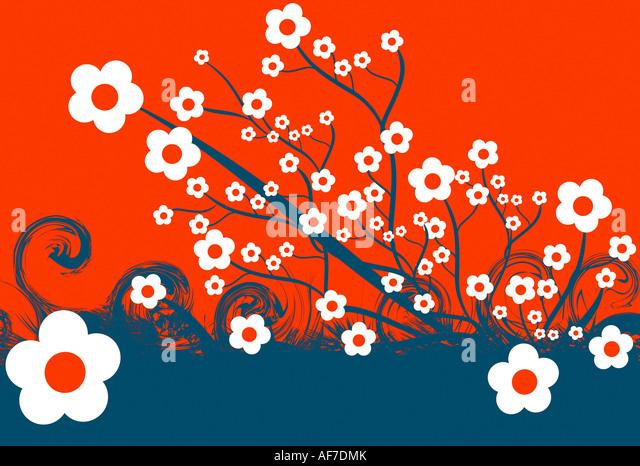 Flowers Illustration - Stock Image