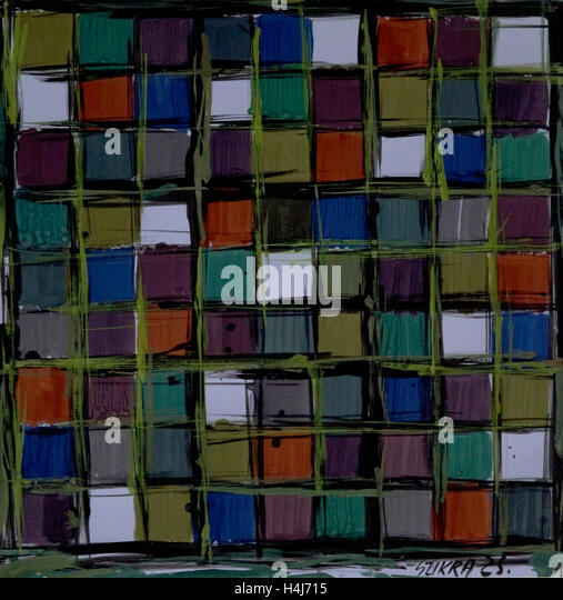 Susan Szikra, colorful shapes, abstract expressionism, Poetic mind, a journey through colors - Stock-Bilder