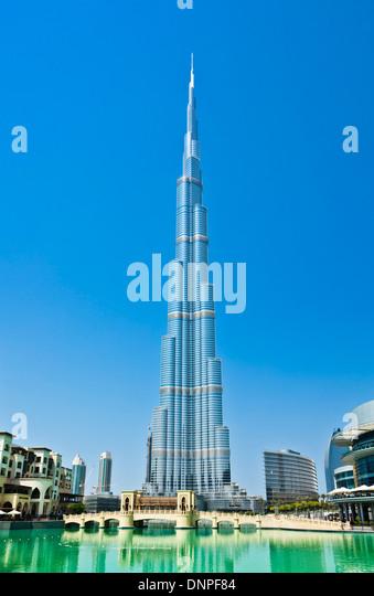 Dubai Burj Khalifa, Dubai City, United Arab Emirates, UAE - Stock Image