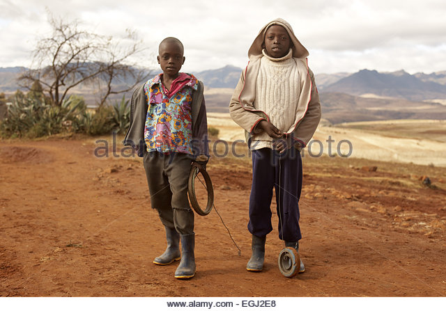 Africa, southern Africa, Lesotho, formerly Basutoland, province Maseru, Malealea, Drakensberge, Maloti mountains, - Stock Image