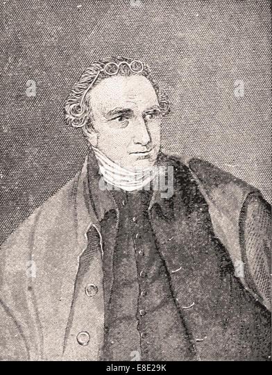 Portrait  of Patrick Henry- Engraving - XIX th Century - Stock Image
