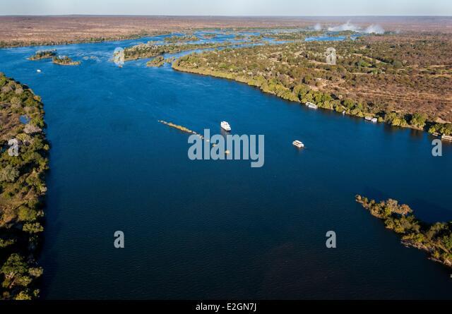 Zimbabwe Matabeleland North Province Zambezi river upstream of Victoria Falls - Stock Image