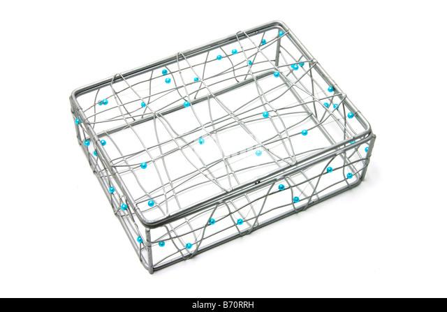 Beaded Wire Box - Stock Image