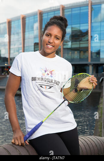 Fontaine Chapman is a Badminton Player from Coventry, West Midlands - Stock Image