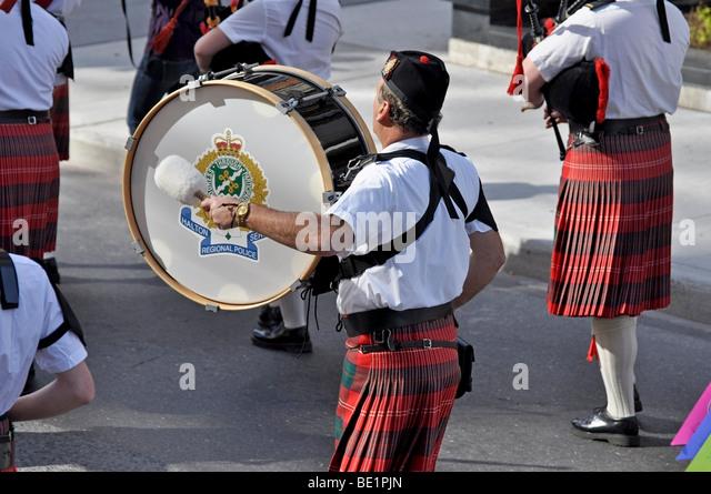 Halton Regional Police - band participates in the Taoist Tai Chi Awareness Day - Parade - 2009. - Stock Image