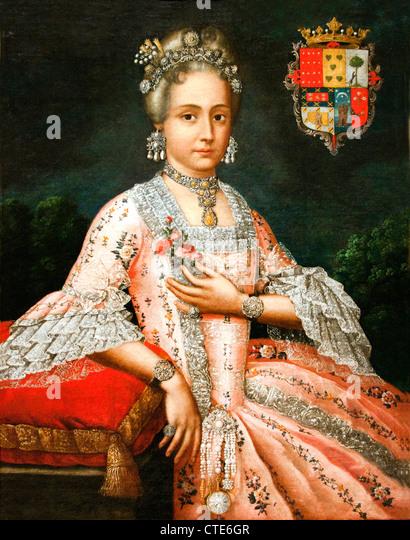 Dona Rosa Maria Salazar y Gabino  Countess of Montoblanco and Montemar 1765 Cristobal Lozano  Lima Peru Peruvian - Stock Image