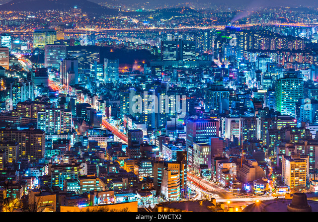 Seoul, South Korea cityscape - Stock Image