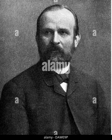 Richthofen, Ferdinand Baron von, 5.5.1833 - 6.10.1905, German traveler, geologist, geographer, portrait, late 19th - Stock Image