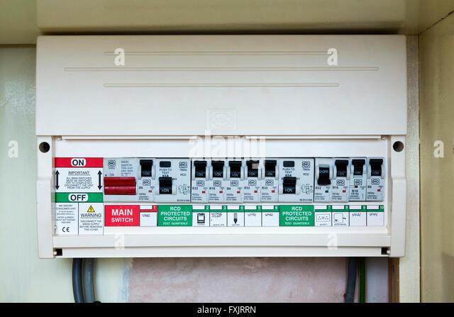 fusebox with circuit breakers fxjrrn circuit breaker domestic stock photos & circuit breaker domestic