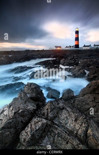 Night shot of st Johns lighthouse, Co Down, Northern Ireland. - Stock-Bilder