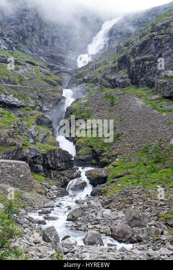 Stigfossen Waterfall - Stock Image