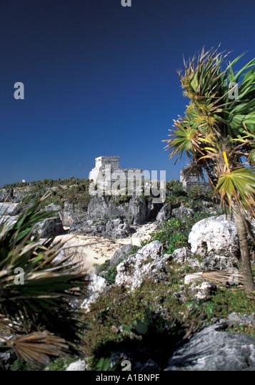 Mexico Tulrum Maya Ruins - Stock Image
