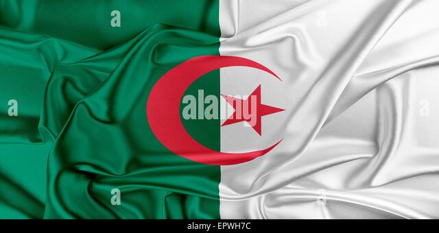 Flag of Algeria - Stock Image