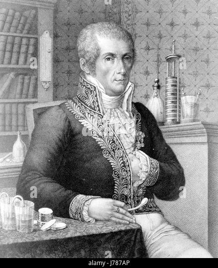ALESSANDRO VOLTA (1745-1827) Italian physicist and pioneer of electricity - Stock-Bilder