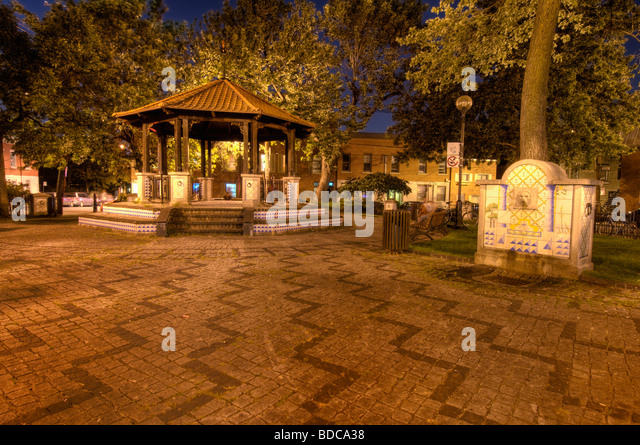Portugal park Montreal located on boulevard Saint Laurent - Stock Image