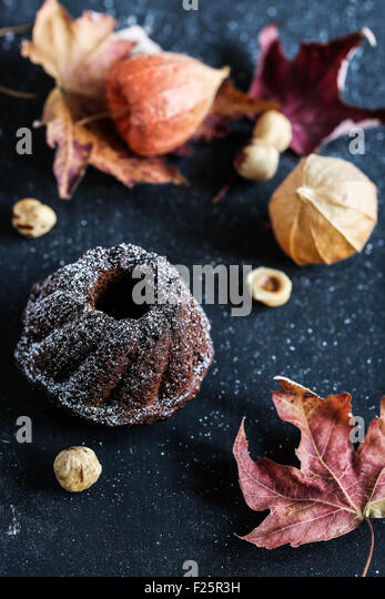 Mini bundt cake. - Stock Image