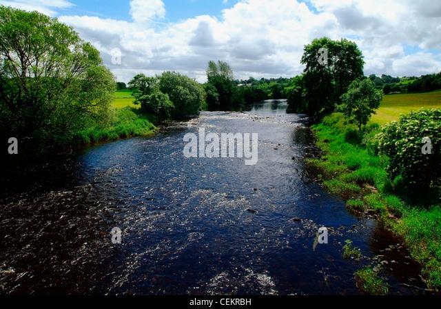 River Mourne, Co. Tyrone, Ireland - Stock Image