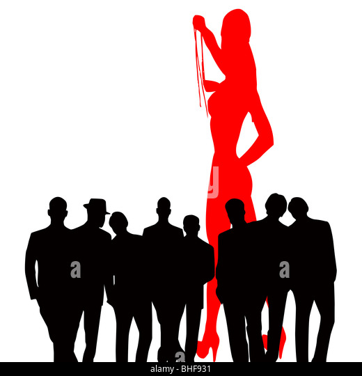 Striptease Dancer, Conceptual Image of men watching a striptease artist - Stock-Bilder