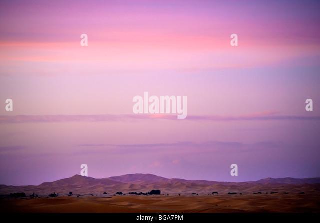 Erg Chebbi, Ziz Valley, Sahara Desert, Morocco - Stock Image