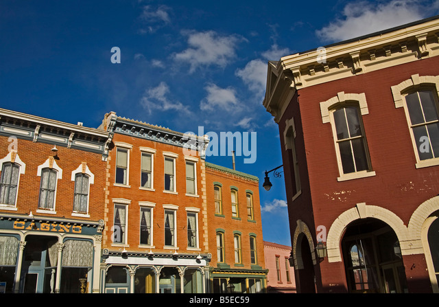 Historic downtown Central City, Rocky Mountains, Colorado, USA, North America - Stock Image