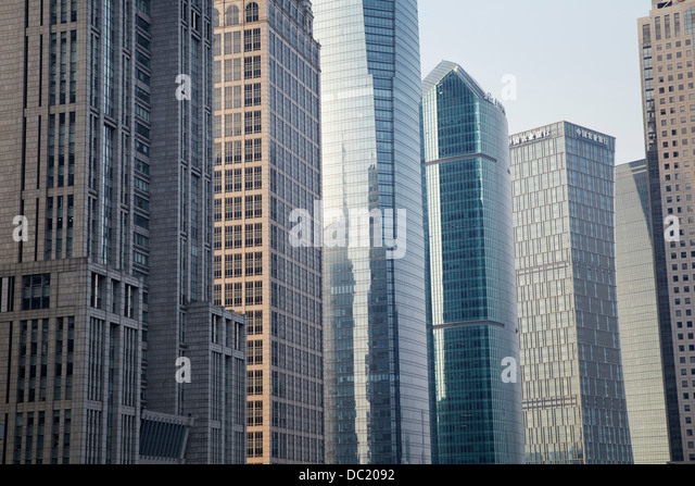 Skyscrapers in Shanghai, China - Stock Image