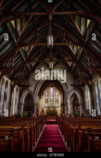 Inside St. Peter's Episcopal Church, Fernandina Beach, Florida (HDR) - Stock Image