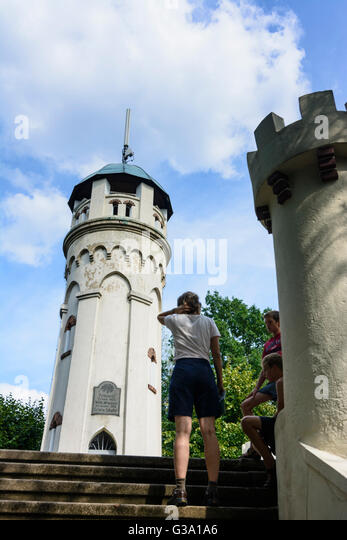 outlook tower Friedensturm (Bismarckwarte), Germany, Sachsen, Saxony, , Weinböhla - Stock Image