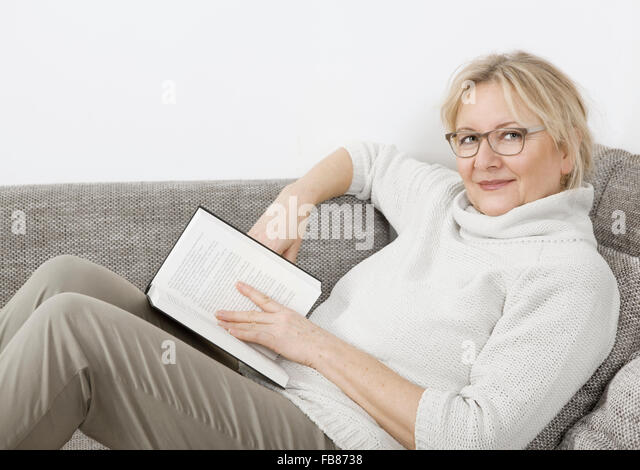 image Blonde reading a book gets bound