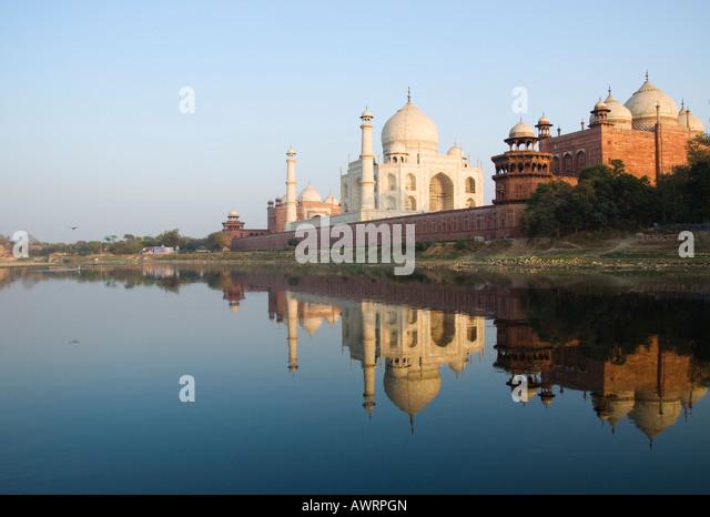 The Yamuna river in Agra India - Stock-Bilder