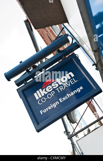 An Ilkeston CO-OP Travel Sign - Stock-Bilder