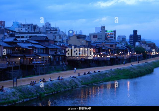 Landscape, Osaka, Japan - Stock Image