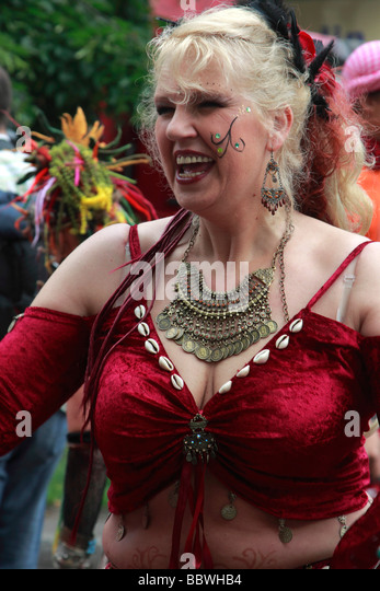 Germany Berlin Carnival of Cultures woman in costume - Stock-Bilder