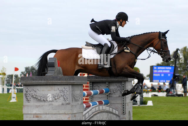 England Stamford Lincolnshire September 4th 2015; Show jumping in the main show ground Credit: Clifford Norton/Alamy - Stock Image