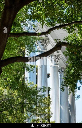 North Carolina NC Wilmington historic district Market Street Kenan Plaza Bellamy Mansion Museum antebellum architecture - Stock Image