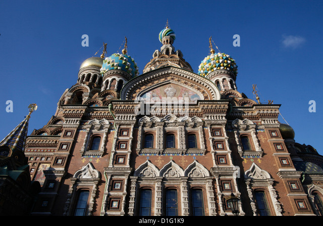 Church of the Saviour on Spilled Blood (Church of Resurrection), UNESCO World Heritage Site, St. Petersburg, Russia, - Stock Image