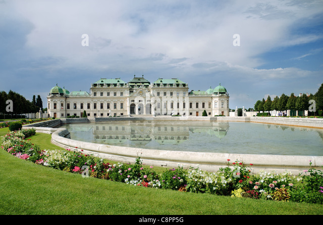 Summer palace Belvedere in Vienna - Stock Image
