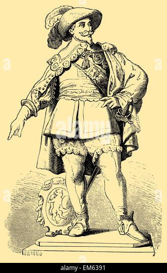 Gustavus Adolphus of Sweden (1594-1632), or Gustaf II Adolf, King of Sweden - Stock Image