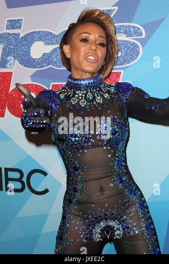 Hollywood, Ca. 15th Aug, 2017. Mel B at America's Got Talent Season 12 Live Show Red Carpet at The Dolby Theatre - Stock Image