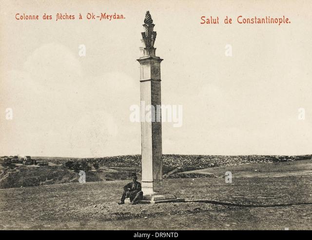 Column of Archers - Ok-Meydan - Stock Image