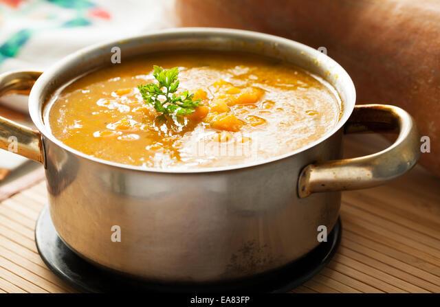 butternut squash soup - Stock Image
